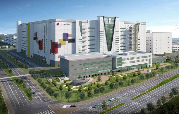 Компьютерное изображение завода LG Display поколения 8.5G в Гуанчжоу. Источник изображения: LG Display