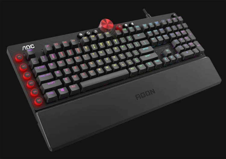 """AOC выпустила механическую клавиатуру AGON AGK700 с подсветкой и поворотным регулятором"""""""