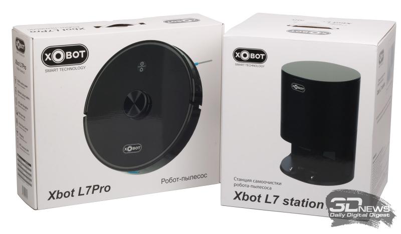 Коробки с роботом-пылесосом Xbot L7 Pro и станцией самоочистки Xbot L7 Station