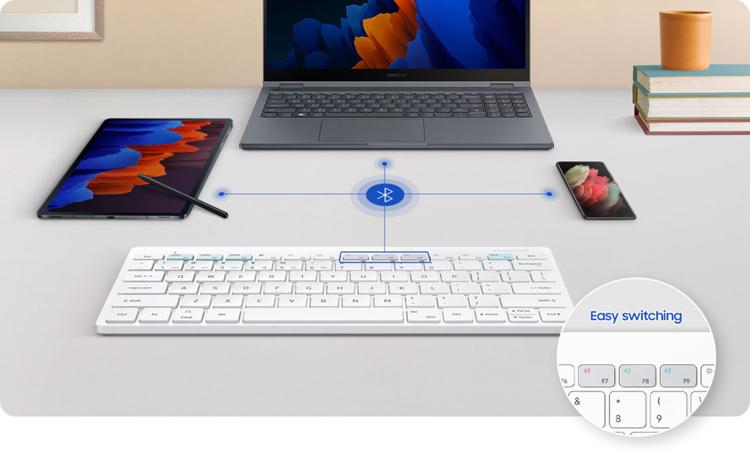 """Samsung представила беспроводную клавиатуру Smart Keyboard Trio 500 с поддержкой подключения к трём устройствам"""""""