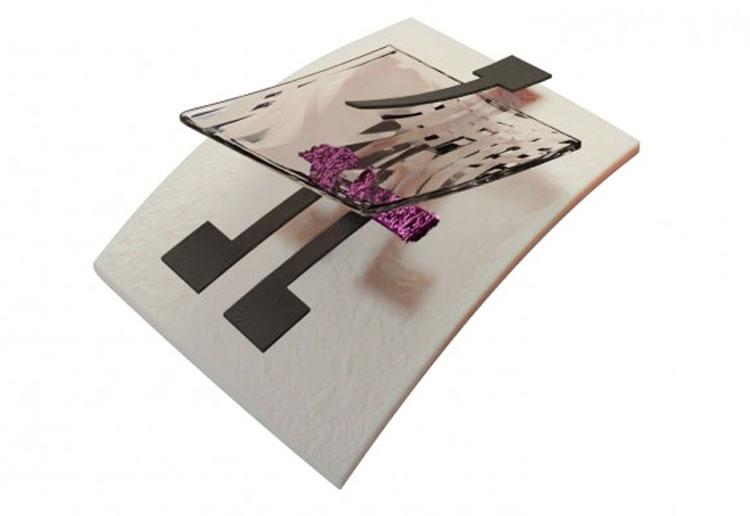 Компьютерное изображение полностью перерабатываемого печатного транзистора. Источник изображения: Duke University