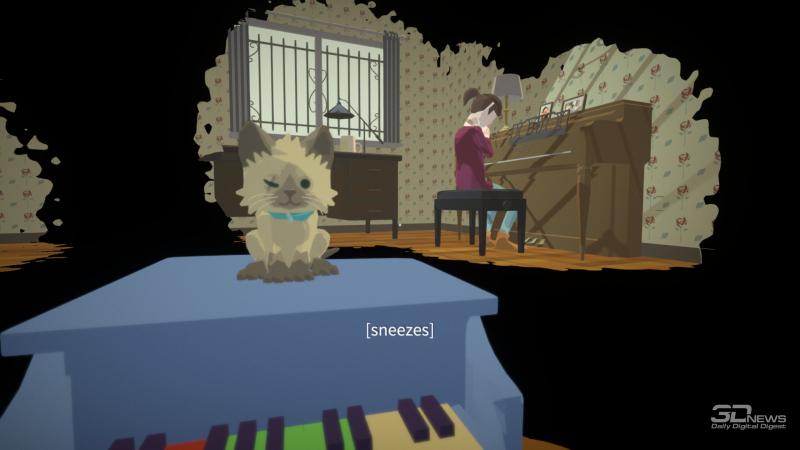 Какая хорошая игра может обойтись без котика? Ладно, почти любая, но в Before Your Eyes котик есть — и он оказывается источником сразу нескольких трогательных и драматичных сцен