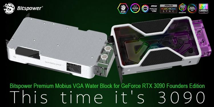Bitspower представила за $425 водоблок для GeForce RTX 3090 FE, который похож на оригинальную систему охлаждения