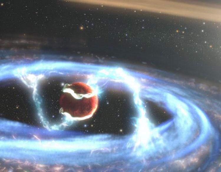Формирование экзопланеты в представлении художника. Источник изображения: NASA, ESA, STScI, Joseph Olmsted (STScI)