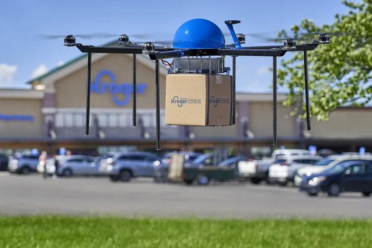 Американские супермаркеты Kroger начали доставлять покупки дронами