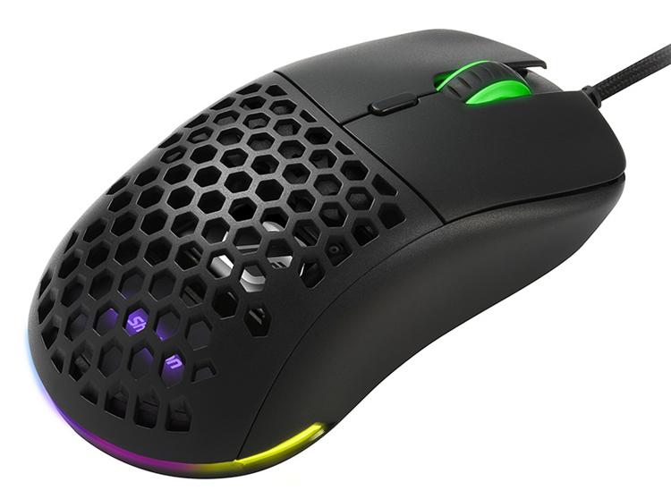 Игровая мышь Sharkoon Light² 180 с датчиком на 12 000 DPI весит всего 63 грамма