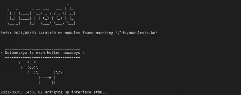 LinuxBoot внедрил netboot.xyz для простой PXE-загрузки по сети