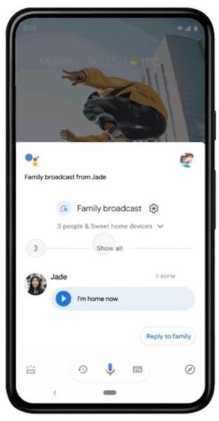 Google Ассистент научился рассылать уведомления на смартфоны членов семьи пользователя