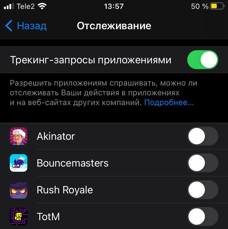 """88 % пользователей iOS 14.5 запрещают приложениями отслеживать их активность"""""""