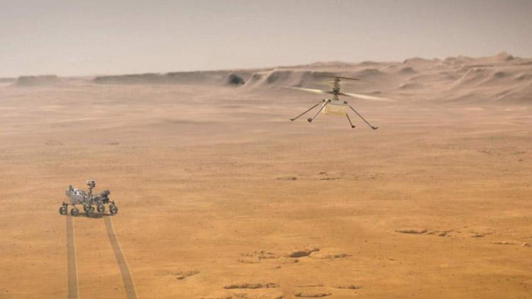 NASA опубликовало первую запись звука полёта вертолёта Ingenuity на Марсе