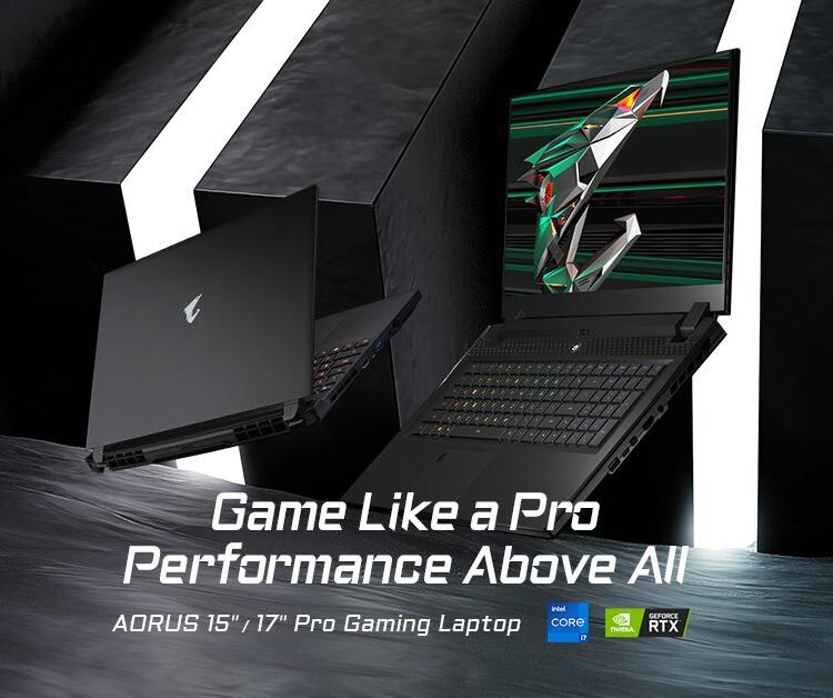 Gigabyte представила игровые ноутбуки Aorus с восьмиядерными Intel Tiger Lake и графикой GeForce RTX 30-й серии