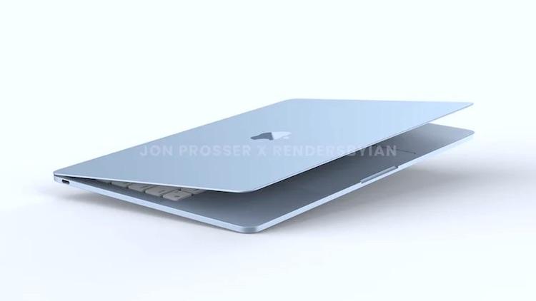 Опубликованы рендеры грядущего MacBook Air в разных цветах
