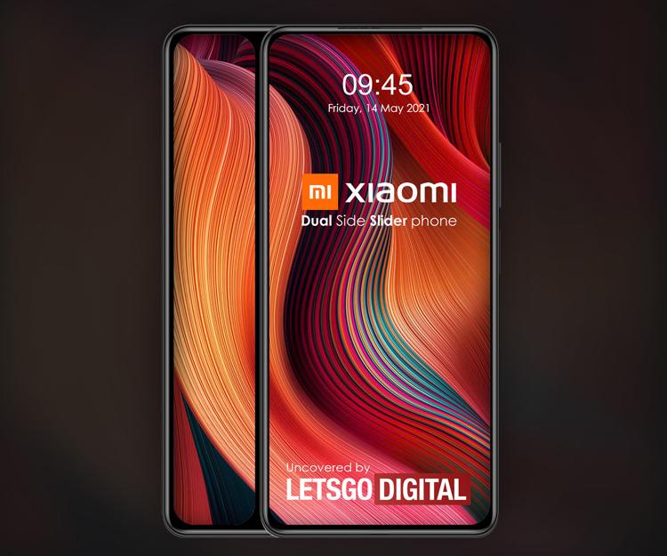 Xiaomi придумала смартфон в виде двойного слайдера с дополнительным экраном