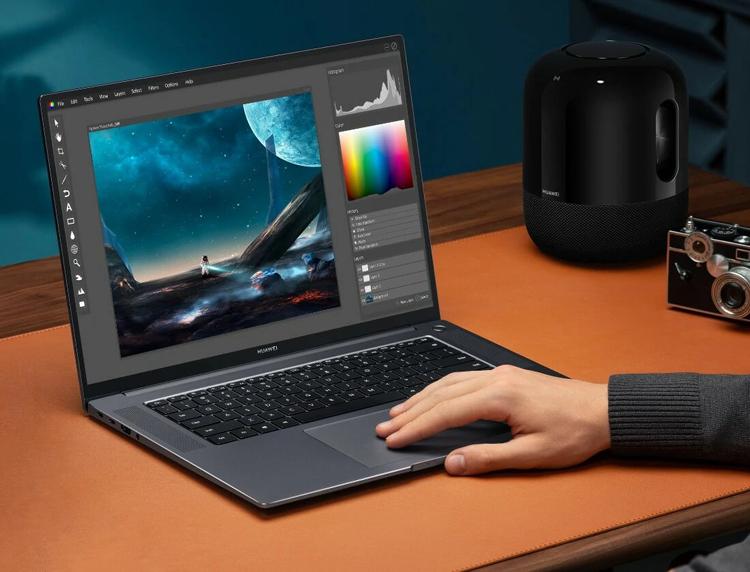 """Huawei представила тонкий производительный ноутбук MateBook 16 с экраном 2.5К и процессором AMD"""""""