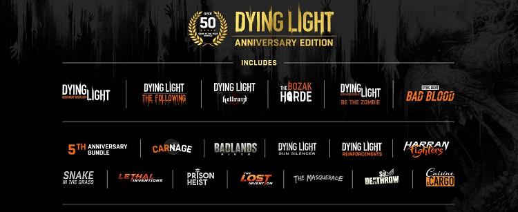 Наполнение Dying Light Anniversary Edition (источник изображения: Amazon)