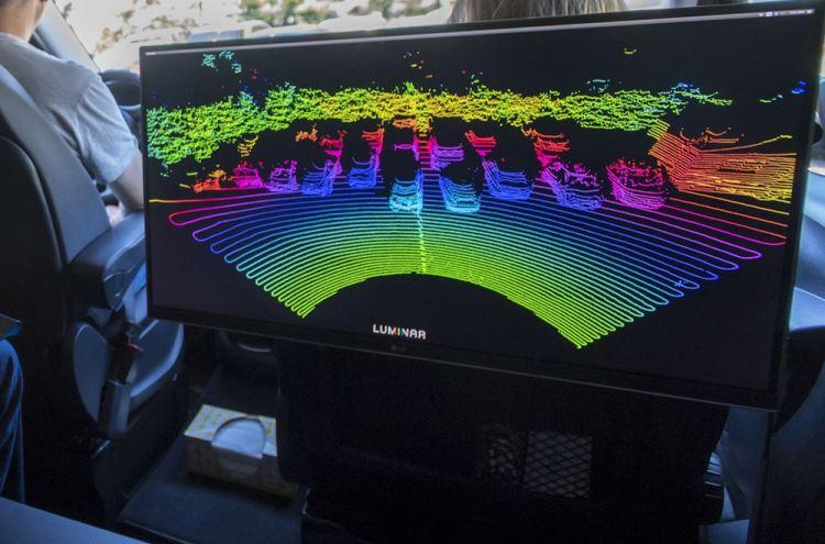Демонстрация работы лидара от Luminar | Изображение: David Paul Morris / Bloomberg