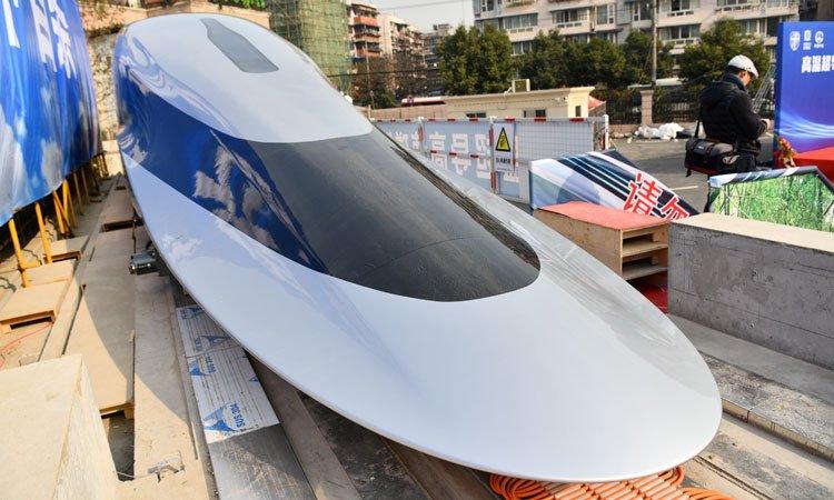 Прототип маглев-поезда с использованием высокотемпературной сверхпроводимости. Источник изображения: globaltimes.cn/IC
