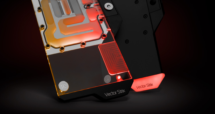 Водоблок EK-Quantum Vector Strix рассчитан на видеокарты ASUS серий Radeon RX 6800/6900