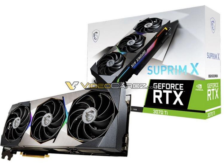 Видеокарты MSI GeForce RTX 3070 Ti SUPRIM X и Ventus 3X показались на изображениях