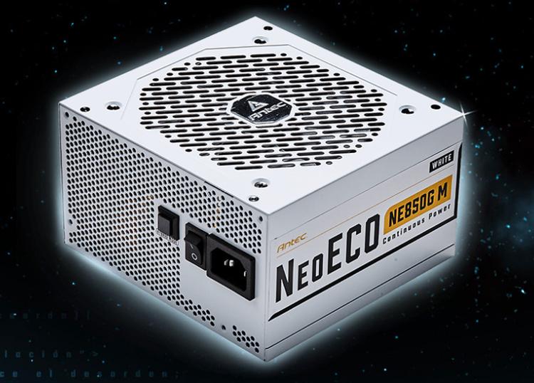 Блоки питания Antec NeoECO Gold Modular доступны в чёрном и белом исполнениях