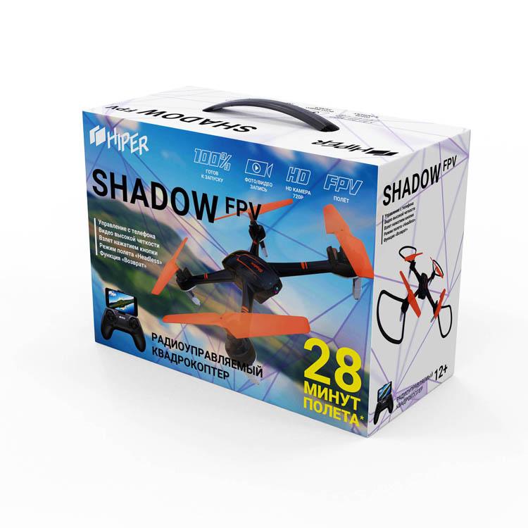"""[Гаджет для лета] Лёгкий и компактный квадрокоптер HIPER SHADOW FPV"""""""