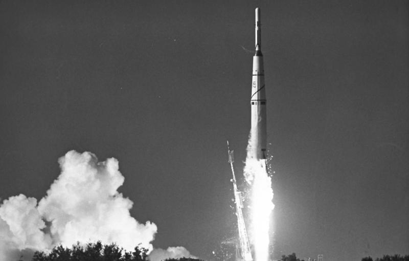 17 августа 1958 года была предпринята первая попытка запуска искусственного спутника Луны с помощью ракеты-носителя Thor DM-18 Able I. Фото NASA. Источник: https://www.nasaspaceflight.com/2018/09/evolution-thor-delta-swansong/