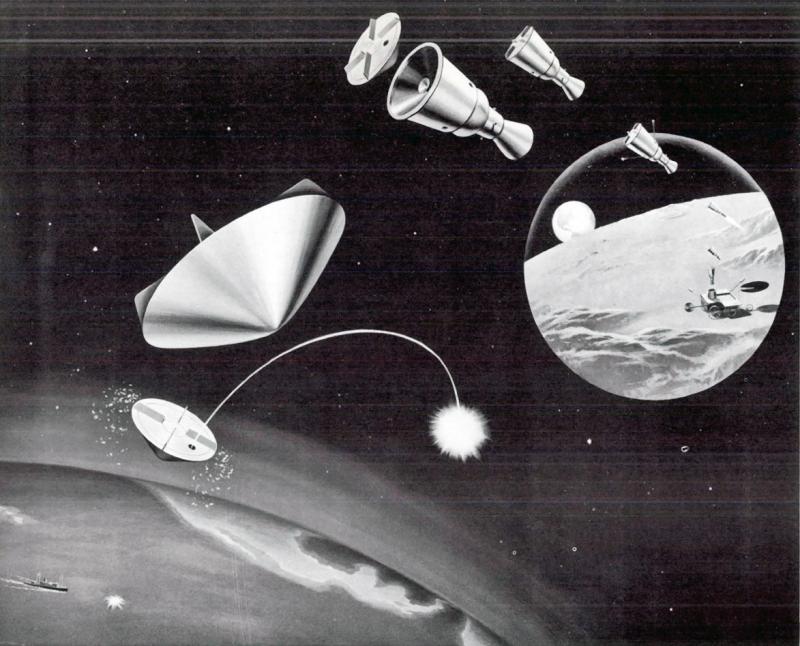 Схема миссии по доставке на Землю образцов лунного грунта. Источник: https://forum.nasaspaceflight.com/index.php?topic=28478.0