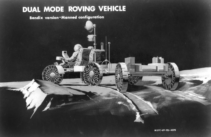 Проект сочлененного ровера фирмы Bendix, управляемого астронавтов. Источник: https://twitter.com/apollo_50th/status/1207337024648183808