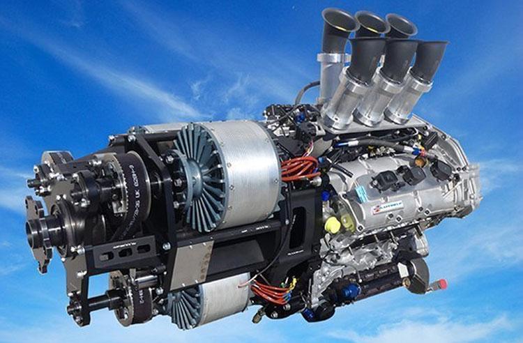 Гибриднй двигатель VoltAero, сочетающий несколько электрических двигателей и ДВС. Источник изображения: VoltAero