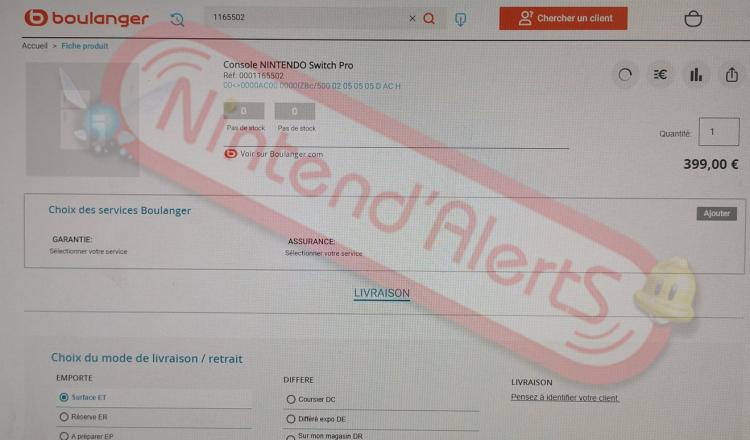Nintendo Switch Pro засветилась во французском магазине по цене €399