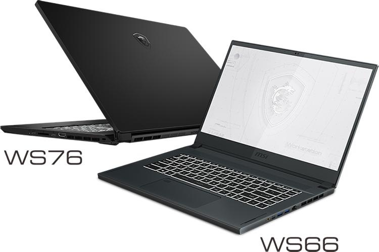 """MSI представила мобильные рабочие станции WS76 и WS66 с видеокартой NVIDIA RTX A5000"""""""