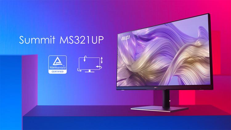 Монитор MSI Summit MS321UP оснащён переключателем KVM2