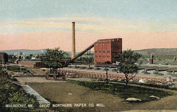 Wikimedia: The Great Northern Paper Mill in the early 20th century