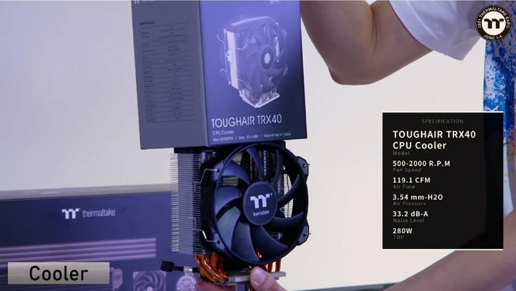 Thermaltake представила башенный кулер Toughair TRX40 для процессоров AMD Ryzen Threadripper
