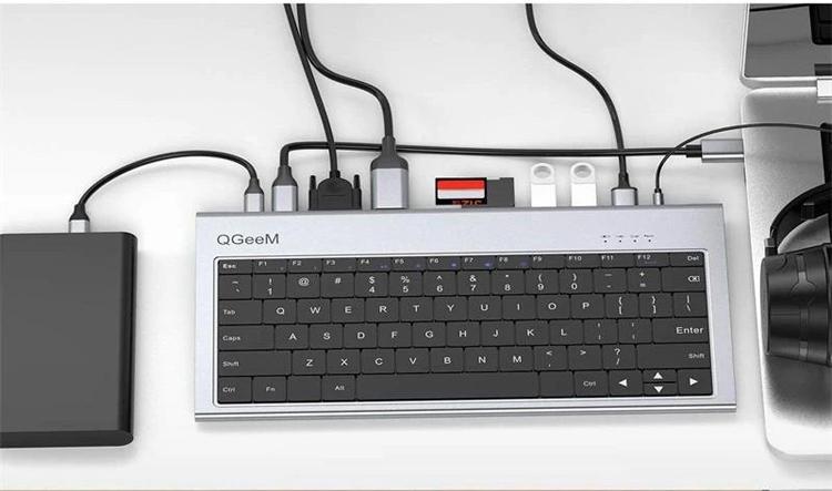 """Представлена необычная клавиатура QGeeM со множеством разных портов — есть даже HDMI и Ethernet"""""""