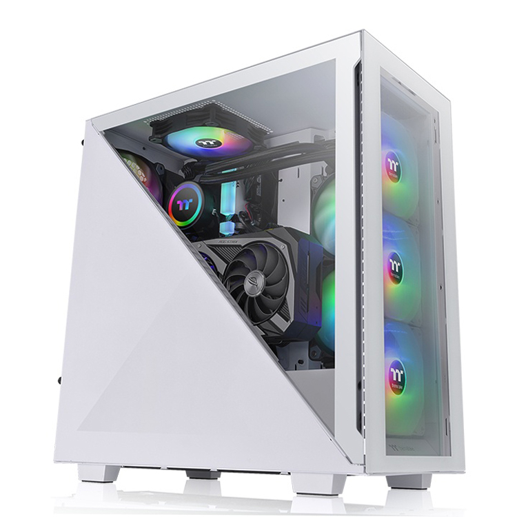 Корпус Thermaltake Divider 300 TG ARGB получил необычную боковую панель