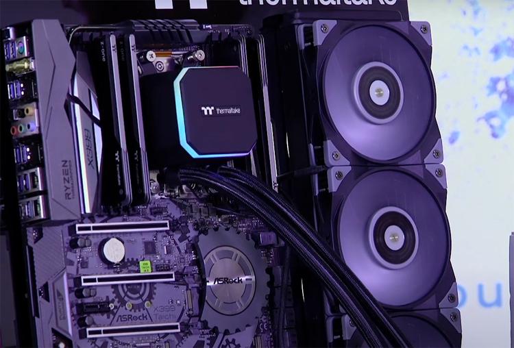 Thermaltake представила систему жидкостного охлаждения ToughLiquid 360 ARGB Sync TRX40 для процессоров Ryzen Threadripper
