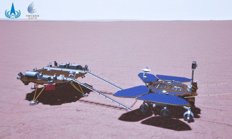 Марсоход в представлении художника. Источник изображения: CNSA