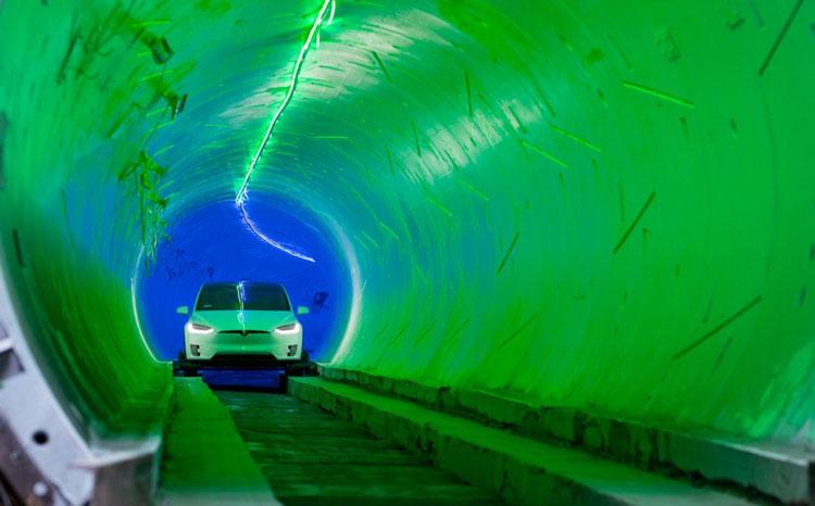 Ранние изображения транспотных тоннелей под Лас-Вегасом. Источник изображения: Boring Company