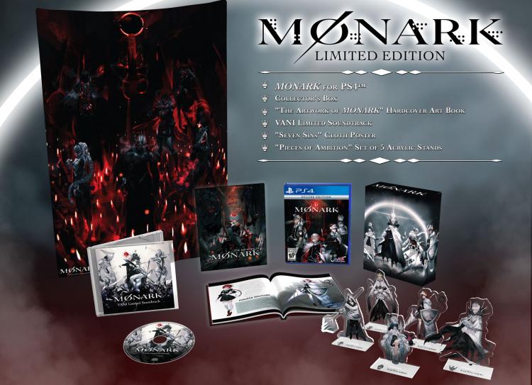 Наполнение ограниченного розничного издания Monark (источник изображения: NIS America)