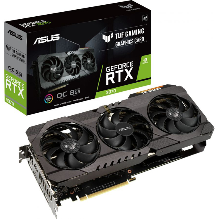 ASUS представила видеокарты GeForce RTX 3070 LHR с аппаратным ограничителем майнинга