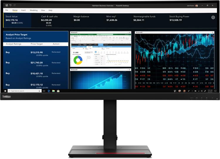 Lenovo представила большой профессиональный монитор ThinkVision P34w-20 по цене $900