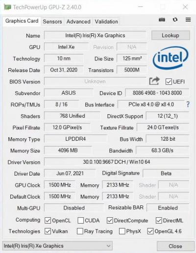 Первые игровые тесты дискретной видеокарты Intel Iris Xe (DG1) — почти 30 FPS в Cyberpunk 20774
