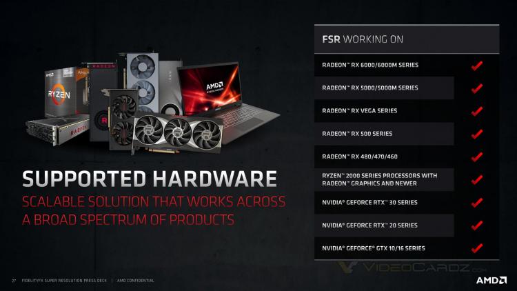 AMD запустила технологию масштабирования FidelityFX Super Resolution— открытую альтернативу NVIDIA DLSS