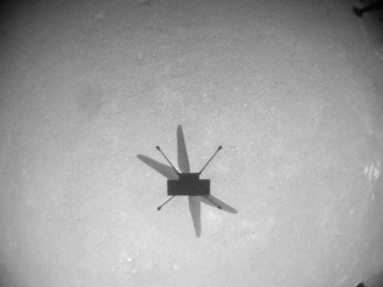 """Марсианский вертолёт Ingenuity в восьмой раз поднялся над Красной планетойи совершил самый длительный полёт"""""""