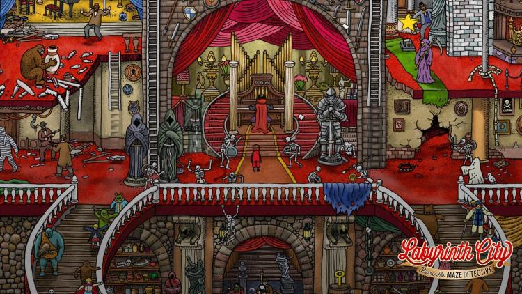 Каждая сцена Labyrinth City: Pierre the Maze Detective основана на иллюстрациях из книг