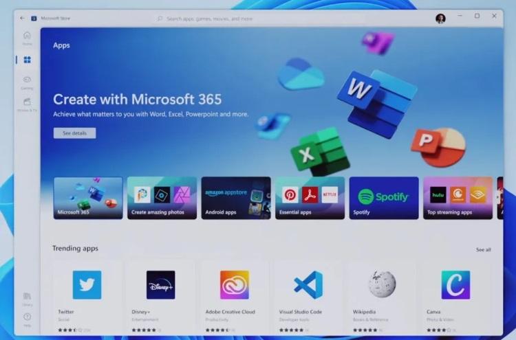 Microsoft представила обновлённый магазин приложений для Windows — в нём будут доступны x86- и Android-приложения