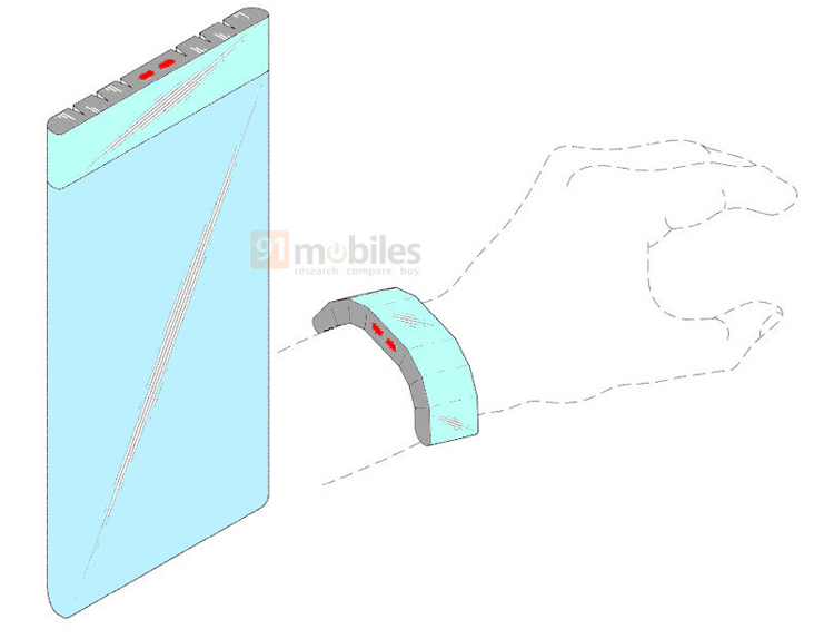 Samsung придумала смартфон со съёмным экраном-браслетом