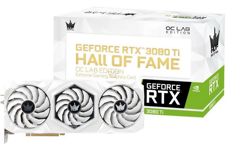 Видеокарту Galax GeForce RTX 3080 Ti HOF OC Lab Edition разогнали до 2,8 ГГц