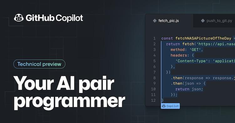 Microsoft и Open AI анонсировали ИИ-систему GitHub Copilot, которая допишет код за программиста